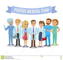 Doctors Nurses Hospital Team Cartoon