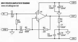 20w Hi-fi Power Amplifier With Tda2040