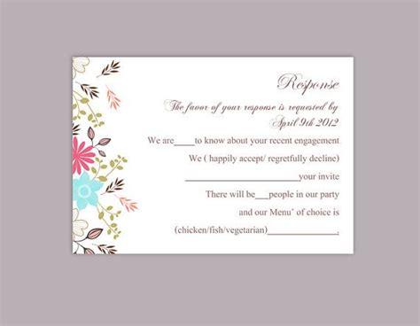 diy wedding rsvp template rsvp postcard printable rsvp