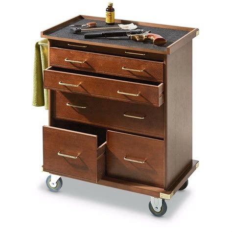 Wood Storage Cabinets With Drawers by Wooden Rolling Storage Cabinet 6 Drawer Storage Workshop