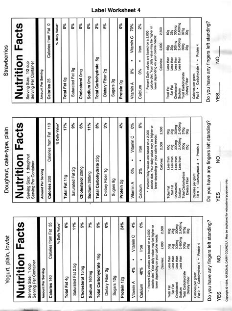 images  diet worksheets   blank nutrition
