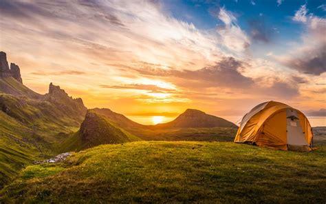 uk campsites  incredible mountain views