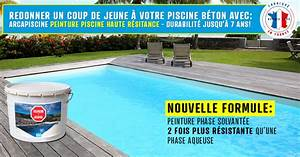 Peinture Pour Piscine : peinture protection piscine beton ciment d coration bassin ~ Nature-et-papiers.com Idées de Décoration