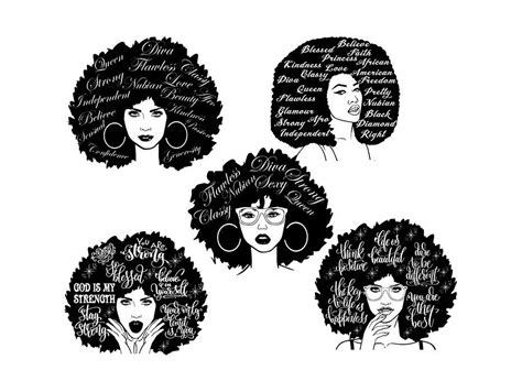 Polish your personal project or design with these afro transparent png images, make it even more personalized and more. Bundle Afro Queen Woman SVG African American Ethnicity ...