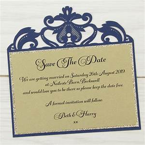 farrah glitter save the date pure invitation wedding invites With affordable glitter wedding invitations uk