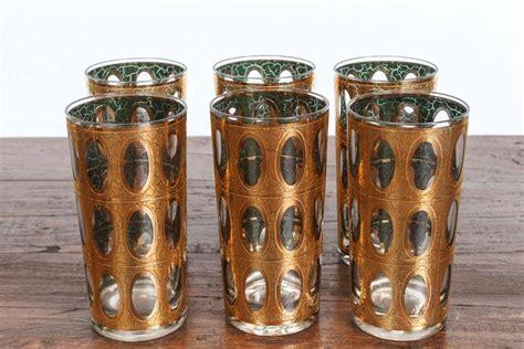 Vintage Mid- Century Culver Pisa Barware Cocktail Set At