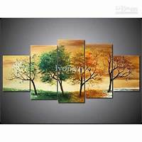 artwork for home Hand-painted Hi-Q Modern Wall Art Home Decorative Abstract Landscape Oil Painting on Canvas ...