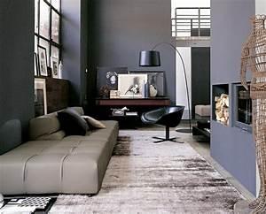 Graue Wand Wohnzimmer : wohnzimmer grau in 55 beispielen erfahren wie das geht ~ Indierocktalk.com Haus und Dekorationen