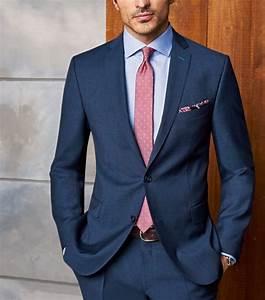 Herren Anzug Modern : anzug f r herren modern fit dunkelblau business hochzeitsgast rote krawatte hellblaues hemd ~ Frokenaadalensverden.com Haus und Dekorationen
