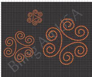 Swirl Rhinestone Design Patterns