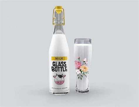 Freepik editorbeta free online template editor. Free Milk Glass Bottle Mockup - PSDKits