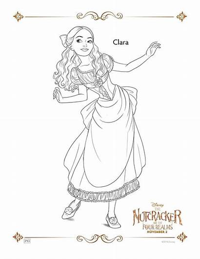 Clara Nutcracker Coloring Realms Pages Four Sheets