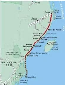 Tulum Mexico Map