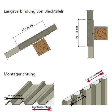 trapezblech dach montage montagehinweise stahlblechplatten trapezprofil der dachplattenprofi