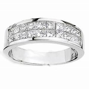 162 Ct Men39s Princess Cut Diamond Wedding Ring Diamond