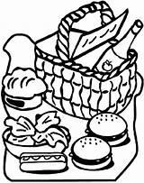 Picnic Coloring Basket Clipart Drawing Blanket Clipartmag Netart Getdrawings sketch template