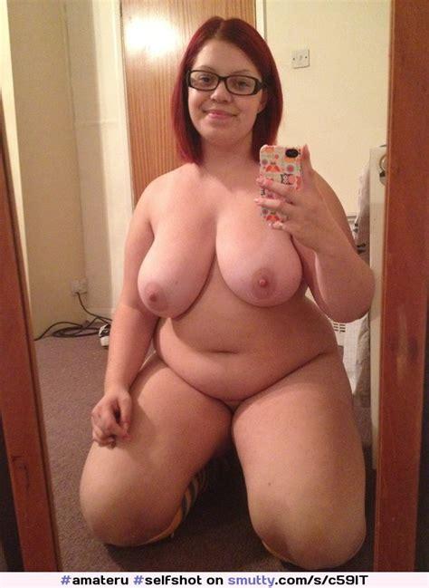 Amateru Selfshot Selfie Glasses Redhead Chubby Bbw
