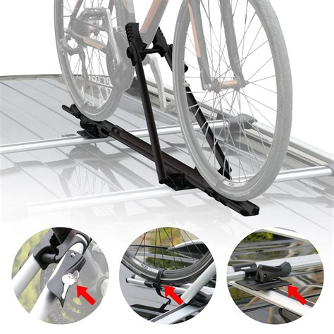 black mount carrier bicycle rack roof mount ceiling top bike carrier  omac shop usa auto