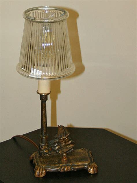 small vintage accent lamp  nautical scene