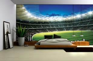 Yankees Curtains by Football Stadium Wallpaper Mural 323ve Football Bedrooms