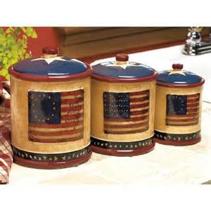 Canisters Kitchen Decor Americana Patriotic Kitchen Canister Set By Spivey Kitchen Storage And
