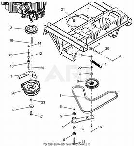 Gravely 992234  030000 -   Pro-turn 460 Parts Diagram For Clutch And Belt  Drive