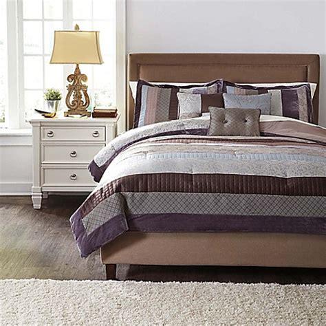 kady steel 6 piece comforter set in slate blue bed bath