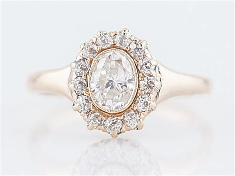 Antique Engagement Ring Victorian .41 Oval Cut Diamond In