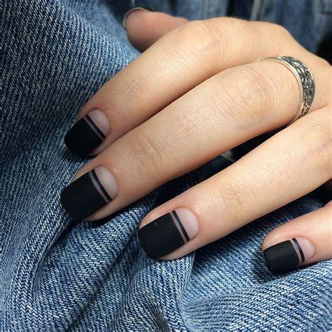 Дизайн ногтей с чёрным лаком особенности маникюра с чёрным лаком что нужно учесть