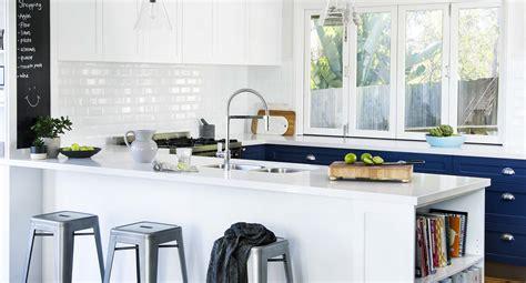 hamptons kitchen inspiration beautiful  blue home beautiful magazine australia