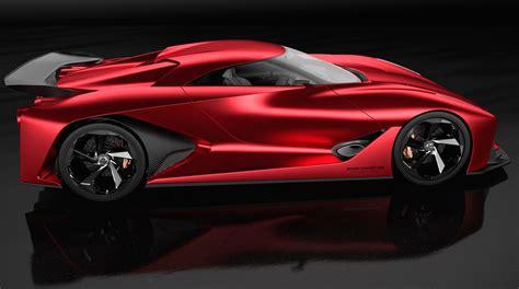 Wallpaper Nissan 2020 Vision Gran Turismo, Red, Concept