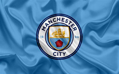 Download Wallpapers Manchester City, Football Club, New Emblem, Premier League, Football