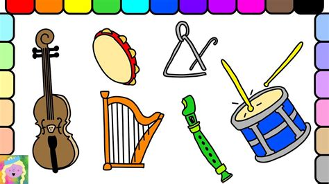Gusli string instruments musical instruments violin harp. Learn How To Draw And Color Musical Instruments And Learn ...