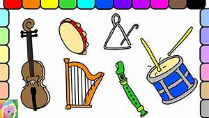 Learn How To Draw And Color Musical Instruments And Learn ...