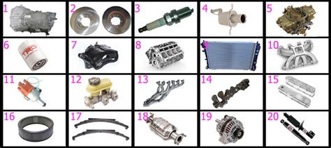 Grease Monkey {car Parts} (images) Quiz