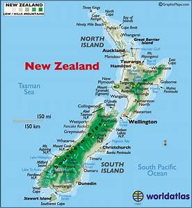 New Zealand Large Color Map