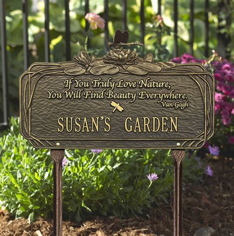 Personalized  Ee  Garden Ee   Plaque With Poem