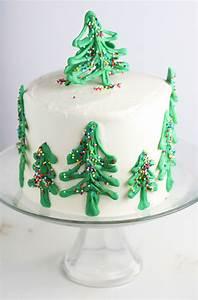 Chocolate Christmas Tree Cake - Mom Loves Baking
