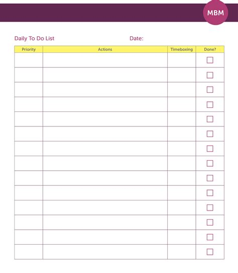 Timed To Do List Template by 14 Time Management Templates To Help You Get Organised