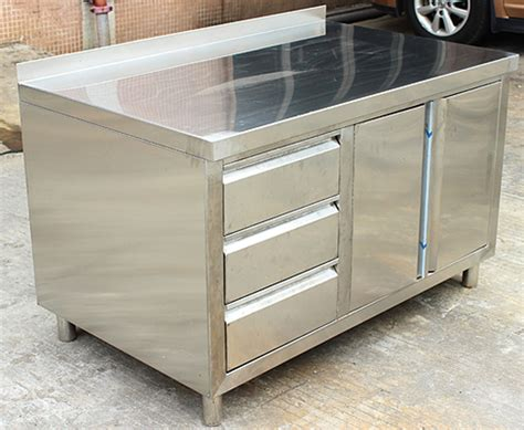 Commercial Stainless Steel Work Prep Table With Cabinet