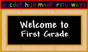 Image result for welcome to first grade image