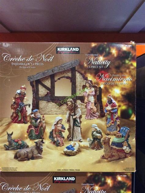 kirkland signature nativity  piece set costcochaser