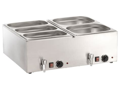 materiel cuisine pro bain lectrique simple avec robinet d 39 vacuation