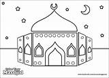 Ramadan Islam Coloriage Mosquee Eid Coloring Colouring Activities Pages Muslim Skills Islamic sketch template