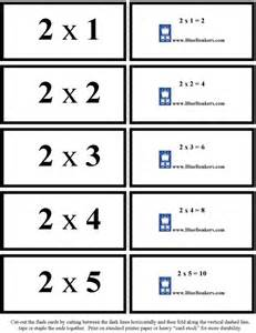Math Multiplication Flash Cards Printable