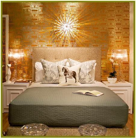 gold room ideas wallpaper in yellow gold bedroom metallic home decor 4877