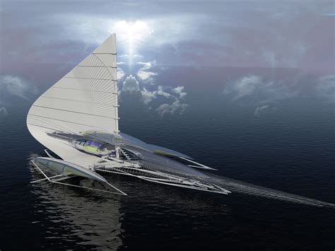 Hydrofoil Yacht Design by This Futuristic 13 Million Yacht Can Be Powered By The