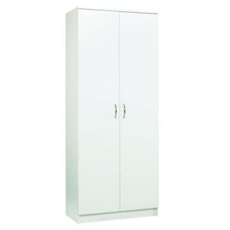 home depot white storage cabinets akadahome 5 shelf laminate storage cabinet in white