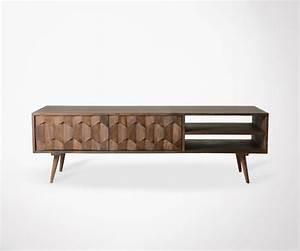 Meuble Tv Ethnique : meuble tv bois de palissandre design haut de gamme ~ Teatrodelosmanantiales.com Idées de Décoration