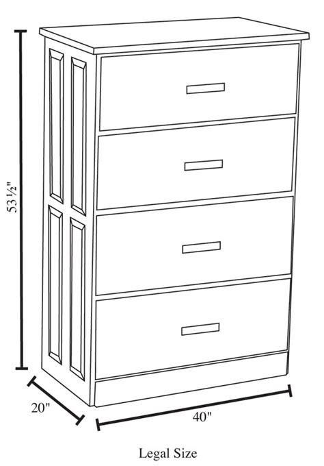 File Cabinet Sizes by 4 Drawer Lateral File Cabinet Ohio Hardwood Furniture